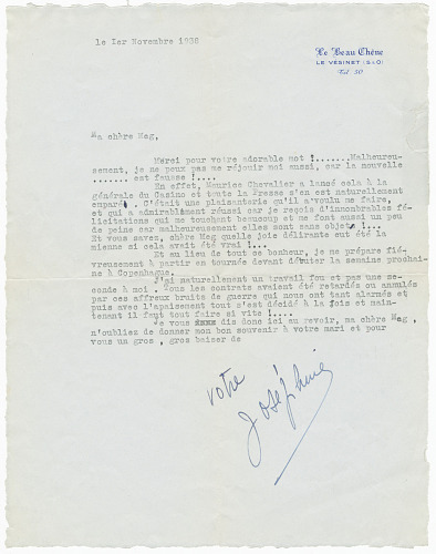 Image for Letter to Margaret Martin Wallace (