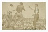 Thumbnail for Photographic postcard of James J. Jeffries staggering away from Jack Johnson