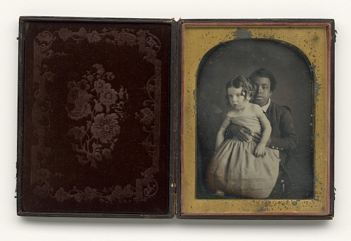 Image for Daguerreotype of an African American child holding a white baby