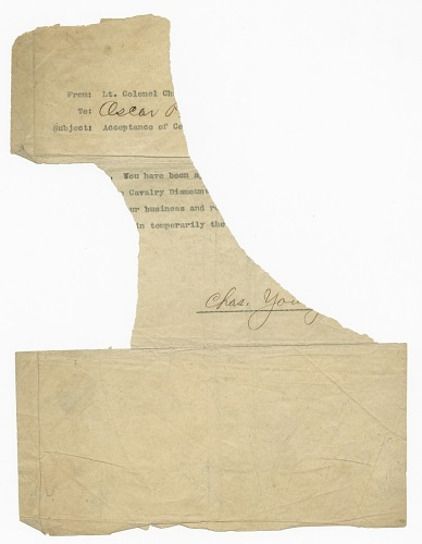 Image for Letter to Oscar W. Price from Charles Young