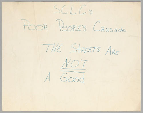 Image for Poster supporting the Poor People's Crusade made by the SCLC