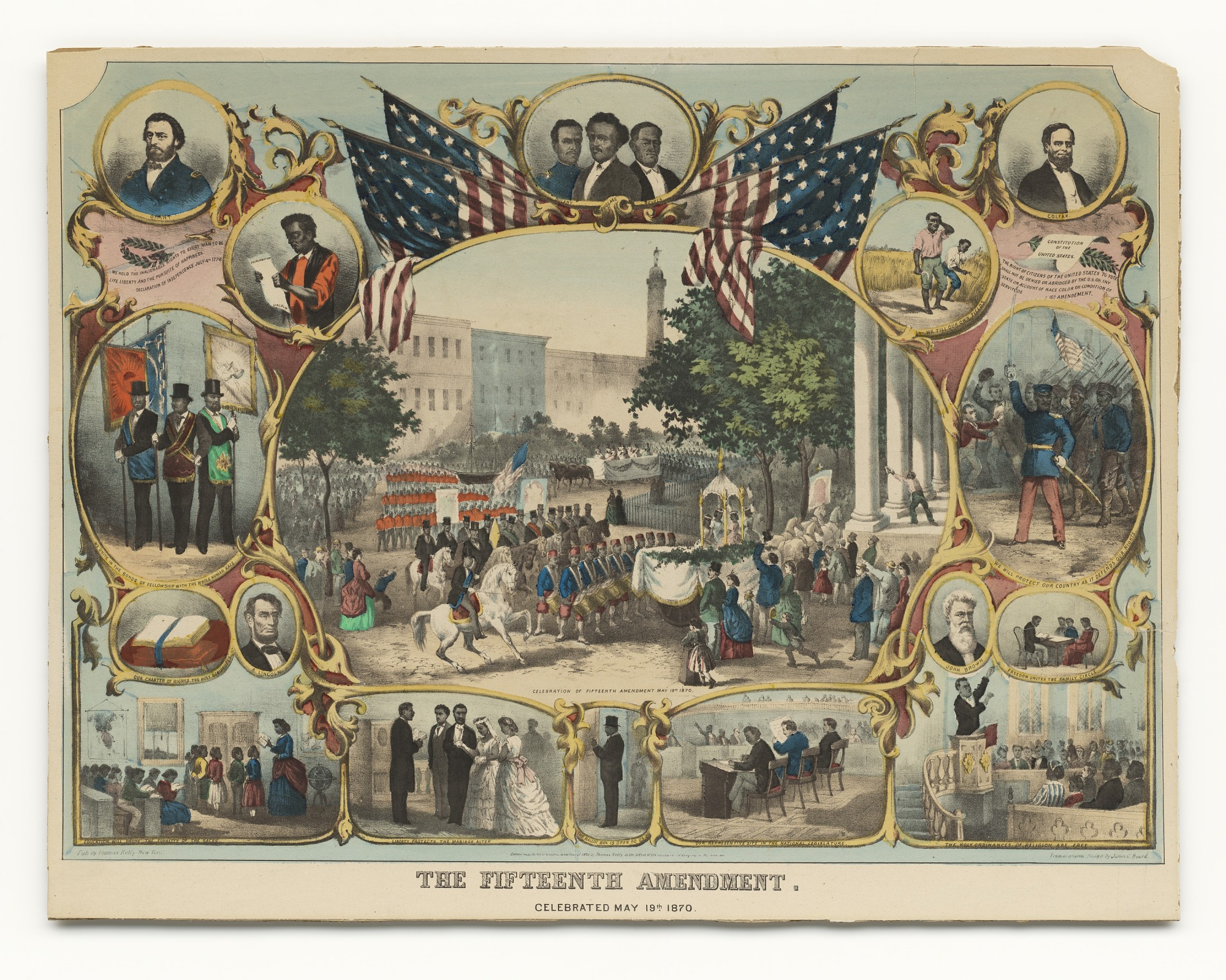 images for <I>The Fifteenth Amendment. Celebrated May 19th 1870</I>