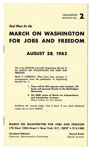 Image for March on Washington for Jobs and Freedom: Organizing Manual No. 2