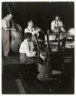 <I>Benny Goodman on clarinet rehearsing at Cafe Society Uptown, NYC., 1947</I>