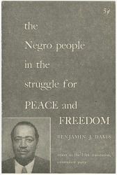The Negro People in the Struggle for Peace and Freedom