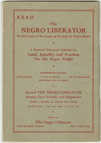 Image for The Road to Negro Liberation