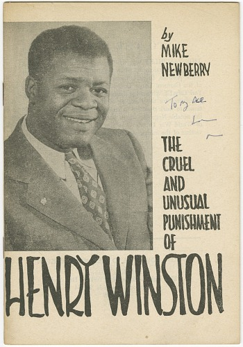 Image for The Cruel and Unusual Punishment of Henry Winston