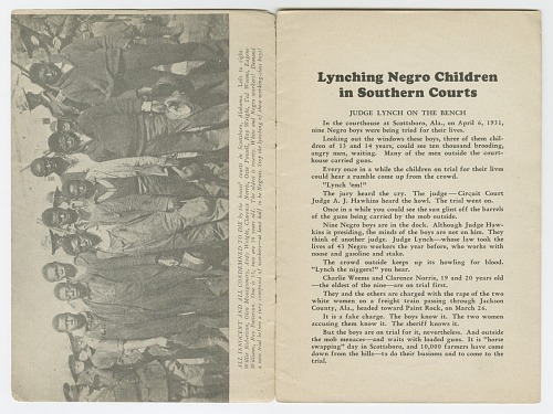 Image for Lynching Negro Children in Southern Courts