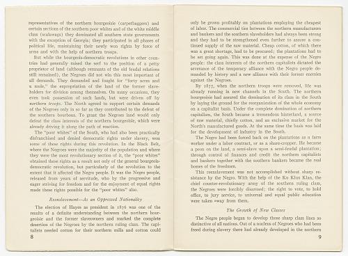 International Pamphlets No  29: Negro Liberation: The