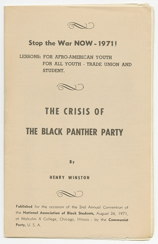 Image for Stop the War Now!: The Crisis of the Black Panther Party