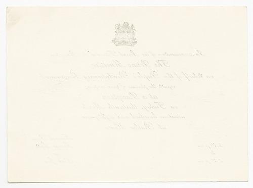 Image for Invitation to reception commemorating 1979 Grenadan revolution