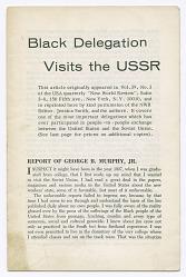 Black Delegation Visits the USSR