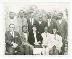 Photograph of Frances Albrier and ten Congolese teachers