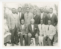 Photograph of ten Congolese teachers at NCNW luncheon