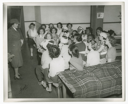Image for Photograph of Frances Albrier teaching a first aid class