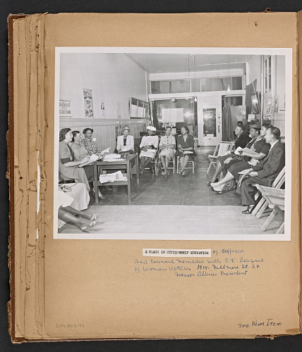 Image for Scrapbook featuring Frances Albrier's work on the Citizenship Education Project