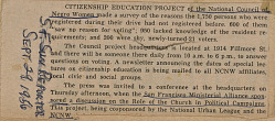 News clipping describing reasons why new voters had not previously registered