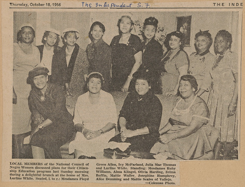 Image for Newspaper clipping of a photograph of women at a brunch meeting