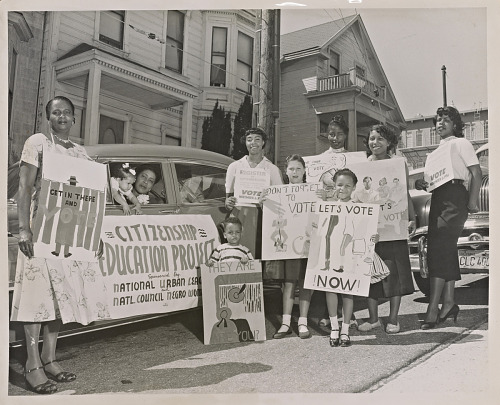 Image for Photograph of women and children at voter registration motorcade