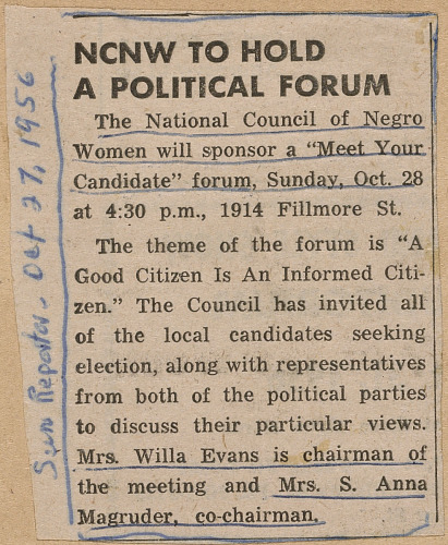 Image for NCNW to Hold a Political Forum