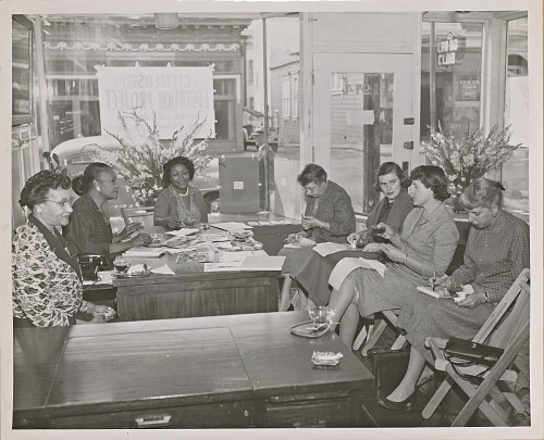 Image for Photograph of NCNW press conference with San Francisco newspaper editors