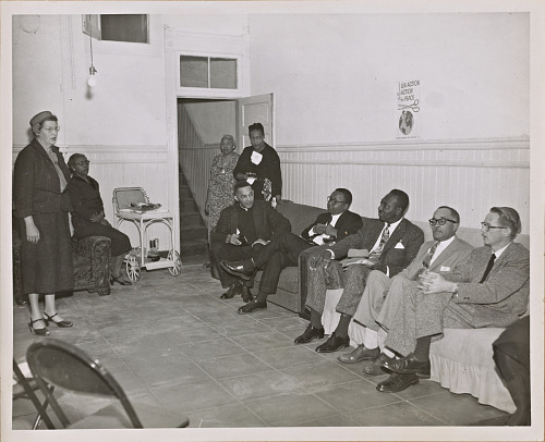 Image for Photograph of a coffee hour for leading San Francisco ministers held by the NCNW