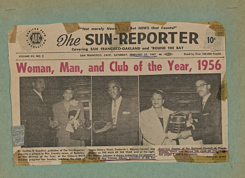 Image for Woman, Man, and Club of the Year, 1956