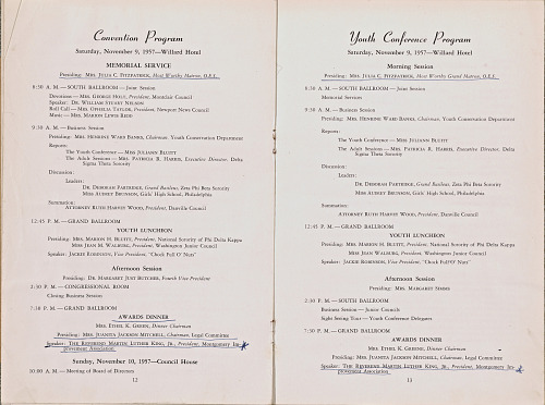 Image for Program from the 1957 National Council of Negro Women annual convention