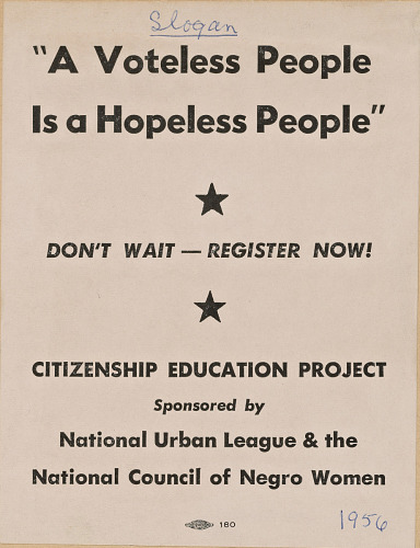 Image for Flyer promoting the Citizenship Education Project