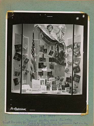 Image for Photograph of Negro History Week display at The Emporium