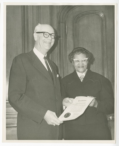 Image for Photograph of Frances Albrier and John Shelley