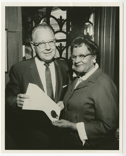 Image for Photograph of Frances Albrier and an unidentified man