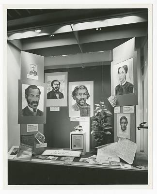 Photograph of a Black History Week display
