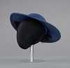 Thumbnail for Navy portrait hat by Mr. John from Mae's Millinery Shop