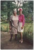 Thumbnail for Color photograph of Mae Reeves & Donna Limerick posing outdoors