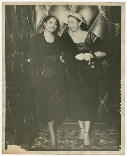 Image for Photograph of Mae Reeves with an unidentified woman