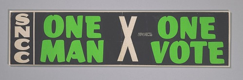 Image for Bumper sticker with the slogan One Man, One Vote
