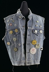 Denim vest worn by Joan Mulholland during Civil Rights Movement