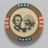 Thumbnail for Pinback button featuring Abraham Lincoln and Frederick Douglass