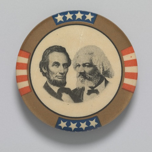 Image for Pinback button featuring Abraham Lincoln and Frederick Douglass