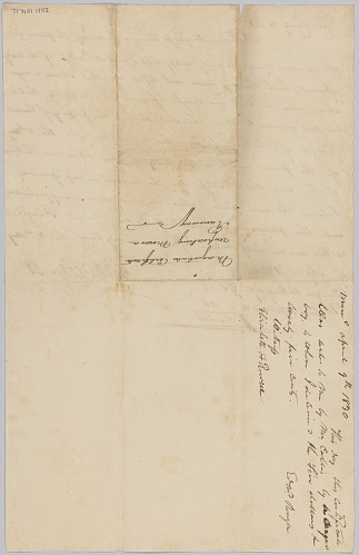 Image for Affidavit of apprehension of Moses, property of Edward Rouzee