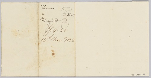 Image for Payment receipt for hire of an enslaved man to the estate of John Rouzee