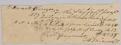 Record of taxes on property, including enslaved persons, owned by Edward Rouzee