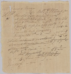 Invoice and receipt for payment by Edward Rouzee