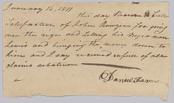 Payment receipt for the hiring out of an enslaved man named Lewis