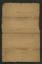 Order of Commendation from the Commander of the French Armies of the East