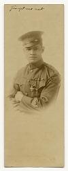Photograph of Cpl. Lawrence McVey in uniform wearing the Croix de Guerre medal
