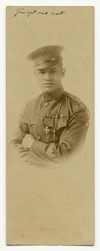 Image for Photograph of Cpl. Lawrence McVey in uniform wearing the Croix de Guerre medal