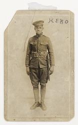 Photographic postcard of Cpl. Lawrence Leslie McVey in uniform
