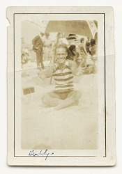 Photograph of Cpl. Lawrence Leslie McVey on the beach